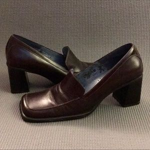 Nine West Brown Leather Loafers